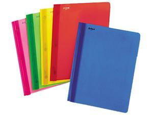 """Oxford                                   Polypropylene Report Cover, Tang Clip, Letter, 1/2"""" Capacity, Assorted, 25/Box"""