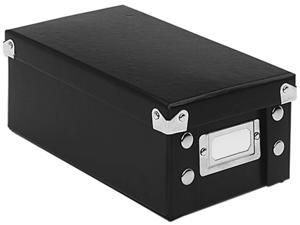 Snap-N-Store SNS01573 Snap 'N Store Collapsible Index Card File Box Holds 1,100 3 x 5 Cards, Black