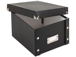 Snap-N-Store SNS01647 Snap 'N Store Collapsible Index Card File Box Holds 1,100 5 x 8 Cards, Black