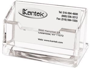 Kantek AD-30 Acrylic Business Card Holder, Capacity 80 Cards, Clear