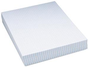 """Pacon Essay/Composition Paper, 1/4"""" Quad Ruled, No Margin, Letter, White, 500 Sheets"""