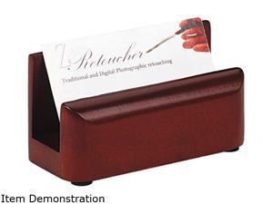 Rolodex 23330 Wood Tones Business Card Holder, Capacity 50 2 1/4 x 4 Cards, Mahogany