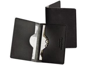 Samsill 81000 Vinyl Business/Credit Card Wallet Holds 20 2 x 3 1/2 Cards, Black