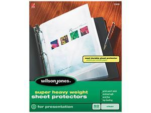 Wilson Jones 21400 Super Heavy Weight Sheet Protector, Clear, 50/Box