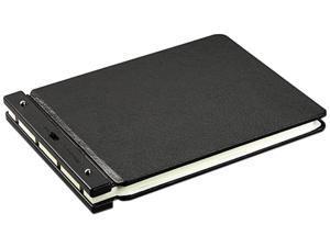 Wilson Jones 241-40N Raven Vinyl-Guarded Post Binder, 9-1/4 x 11-7/8, 7-1/8 C To C, Black