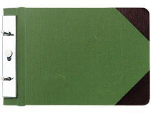 Wilson Jones 278-05 Canvas Sectional Post Binder, 5-1/2 x 8-1/2, 2-3/4 Center, Green