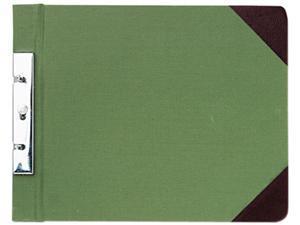Wilson Jones 278-26 Canvas Sectional Post Binder, 11 x 8-1/2, 2-3/4 Center, Green