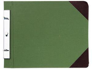 Wilson Jones 278-27 Canvas Sectional Post Binder, 11 x 8-1/2, 4-1/4 Center, Green