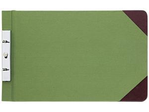 Wilson Jones 278-31 Canvas Sectional Post Binder, 8-1/2 x 14, 2-3/4 Center, Green