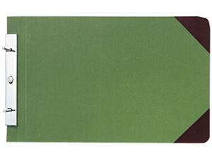 Wilson Jones 278-32 Canvas Sectional Post Binder, 8-1/2 x 14, 4-1/4 Center, Green