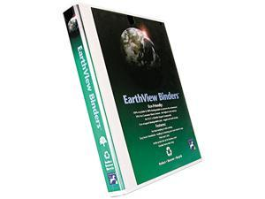 """Aurora Products 20371 Earthview Round Ring Presentation Binder, 1/2"""" Capacity, White"""