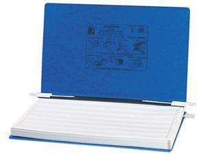 ACCO 54043 Pressboard Hanging Data Binder, 14-7/8 x 8-1/2 Unburst Sheets, Dark Blue