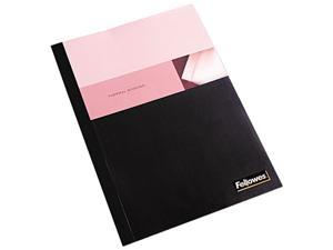 "Fellowes Thermal Presentation Covers - 3/18"", 90 sheets, Black"