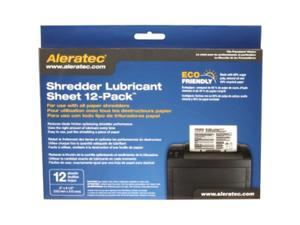 Aleratec Shredder Lubricant Sheets 12-Pack