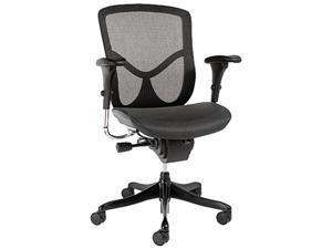 EQ Series Ergonomic Multifunction Mid-Back Mesh Chair, Black Base