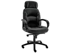 Nico Series High-Back Swivel/Tilt Chair, Black
