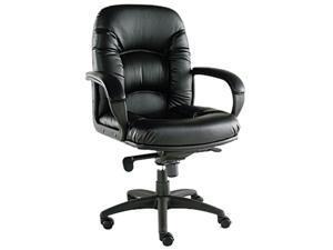 Nico Series Mid-Back Swivel/Tilt Chair, Black
