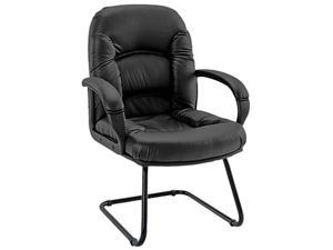 Alera Nico Series NI43CS10B (ALENI43CS10B)Guest Chair, Black Leather