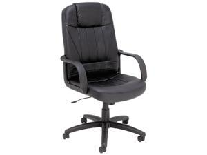 Alera SP41LS10B Sparis Series Executive High-Back Swivel/Tilt Chair, Leather, Black