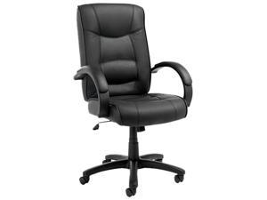 Alera ALESR41LS10B - Strada Series High-Back Swivel/Tilt Chair, Black Top-Grain Leather Upholstery