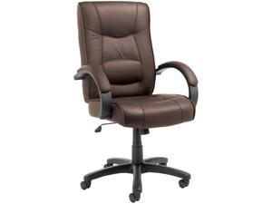 Alera Strada Series SR41LS50B (ALESR41LS50B)High-Back Swivel/Tilt Chair, Brown Top-Grain Leather Upholstery