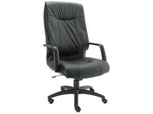 Alera ST41LS10B Stratus Series Leather High-Back Swivel/Tilt Chair, Black