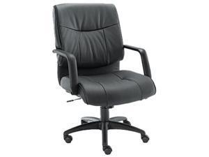 Alera Stratus Series ST42LS10B (ALEST42LS10B)Leather Mid-Back Swivel/Tilt Chair, Black