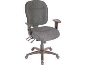 Alera Wrigley Series WR42FB60B (ALEWR42FB60B)Mid-Back Multifunction Chair, Charcoal, Adjustable Arms