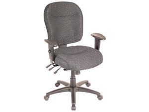 Wrigley Series Mid-Back Multifunction Chair, Charcoal, Adjustable Arms