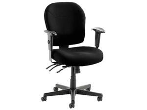 Wrigley Series 24/7 High Performance Mid-Back Multifunction Chair, Black