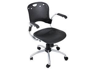 BALT 34552 Circulation Series Task Chair, Black, 25 x 23-3/4 x 37-3/4