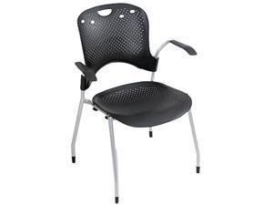 BALT 34554 Circulation Series Stacking Chair, Black, 25 x 23-3/4 x 34