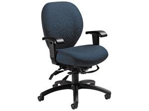 Global 27813T607 Mallorca Mid-Back Multi-Tilt Chair, 20-1/2 x 20-1/2 x 39-1/2, Atmosphere Blue