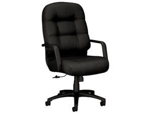 HON 2091NT10T 2090 Pillow-Soft Executive High-Back Swivel/Tilt Chair, Black Fabric/Black Base