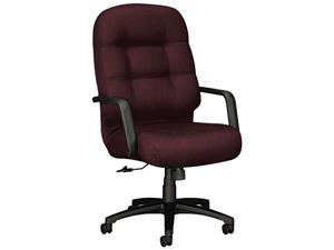HON 2091NT69T 2090 Pillow-Soft Executive High-Back Swivel/Tilt Chair, Wine Fabric/Black Base
