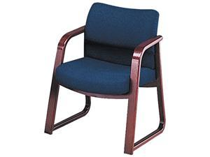 HON 2903NAB90 2900 Series Guest Arm Chair, Blue Fabric/Mahogany Finish Wood