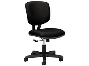 HON 5701GA10T Volt Series Task Chair, Polyester, Black Fabric,Optional height adjustable T-arms HON 5795T available