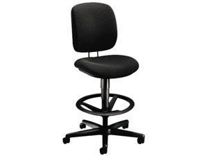 HON 5905AB10T ComforTask Task Swivel Stool, Black