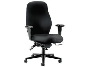 HON 7808NT10T 7800 Series High-Performance High-Back Executive/Task Chair, Tectonic Black