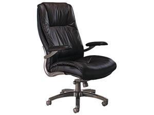 Mayline ULEXBLK Ultimo 100 Series High-Back Swivel/Tilt Chair, Black Leather