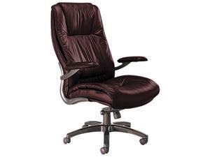 Mayline ULEXBUR Ultimo 100 Series High-Back Swivel/Tilt Chair, Burgundy Leather