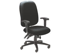 Mayline 2424AG2113 24-Hour High-Performance Task Chair, Acrylic/Poly Blend Fabric, Black