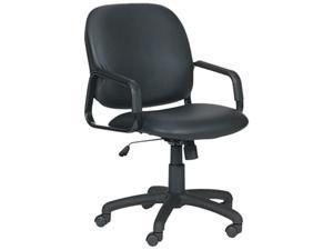Safco 3445BL Cava Collection High-Back Swivel/Tilt Chair, Black Frame/Black Vinyl