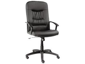 Alera York Series YK41LS10B (ALEYK41LS10B) High-Back Swivel/Tilt Chair, Black Leather