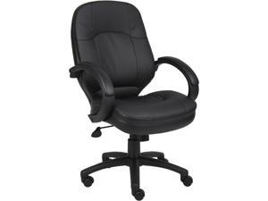 BOSS Office Products  B726-BK  Executive Seating