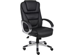 Boss Office Products Boss Black LeatherPlus Executive Chair B8601