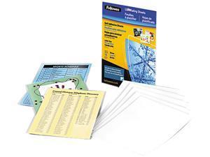 5221501 Fellowes Self-Laminating Sheets, 3 mil, 9 1/8 x 12, 10/Box