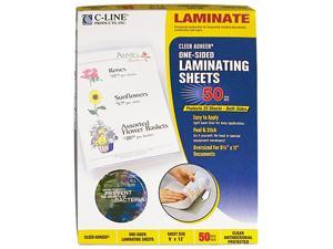 65009 C-Line Antimicrobial Cleer Adheer Laminating Film, 2 mil, 9 x 12, 50/Box