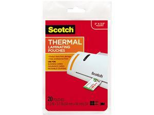 TP5851-20 Scotch Business card size thermal laminating pouches, 5 mil, 3 3/4 x 2 3/8, 20/pack