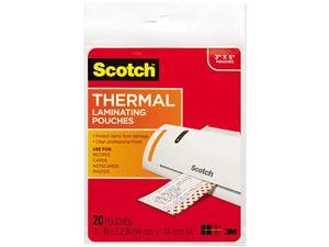 TP5902-20 Scotch Index card size thermal laminating pouches, 5 mil, 5 3/8 x 3 3/4, 20/pack